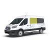 New Shape Ford Transit 2014 > Left Privacy Front Fixed Glass