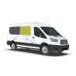 New Shape Ford Transit 2014 > Right Privacy Front Fixed Glass