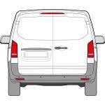 New Shape Mercedes Vito 2016 > Left Privacy Back Door Glass