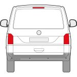 VW Transporter T6 2016 > (ALL other glass same as T5) Privacy Tailgate Glass