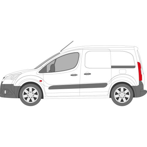 Citroen Berlingo 2008 > Left Privacy Front Fixed Glass