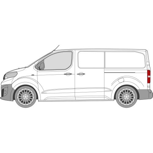 Citroen Dispatch 2016 > MWB Left Privacy Front Fixed Glass