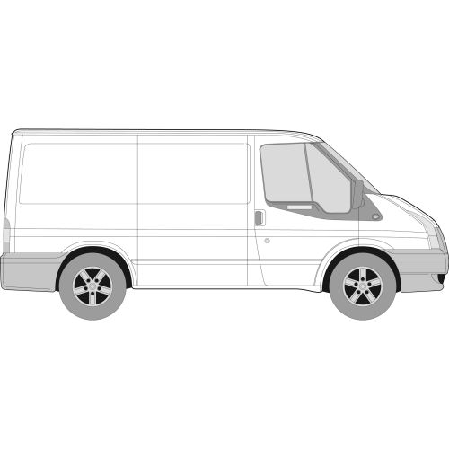 Old Shape Ford Transit 2000 - 2013 SWB Left or Right Privacy Front Fixed SWB Glass