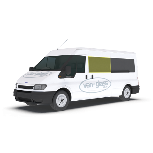 Old Shape Ford Transit 2000 - 2013 MWB/LWB/Jumbo Left or Right Privacy Front Fixed LWB Glass