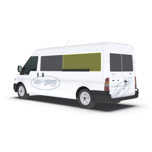 Old Shape Ford Transit 2000 - 2013 MWB/LWB/Jumbo Left Privacy Rear Fixed LWB Only Glass