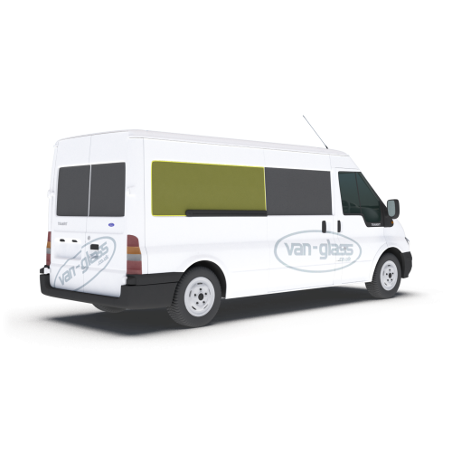 Old Shape Ford Transit 2000 - 2013 MWB/LWB/Jumbo Right Privacy Rear Fixed LWB Only Glass
