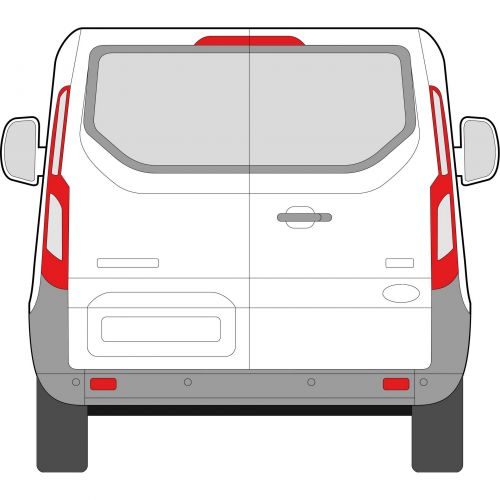 Ford Transit Custom 2014 > Privacy Tailgate Glass