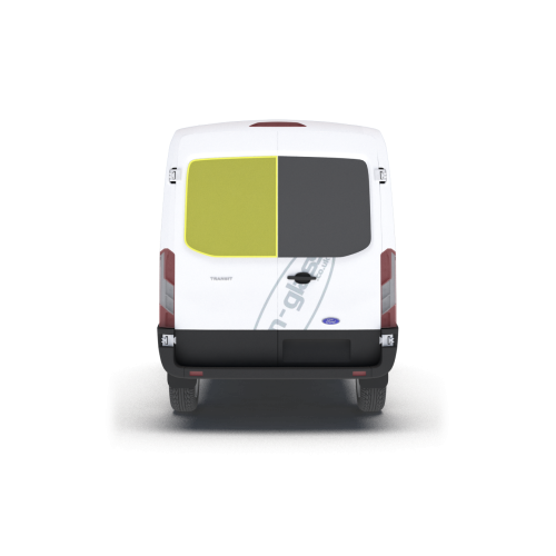 New Shape Ford Transit 2014 > Left Privacy Back Door Glass