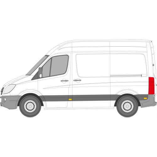 Mercedes Sprinter 2006 > Left Privacy Front Fixed SWB Glass