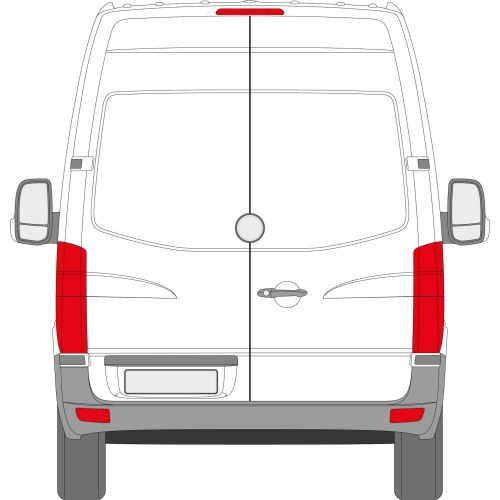 Mercedes Sprinter 2006 > Left Privacy Back Door Glass