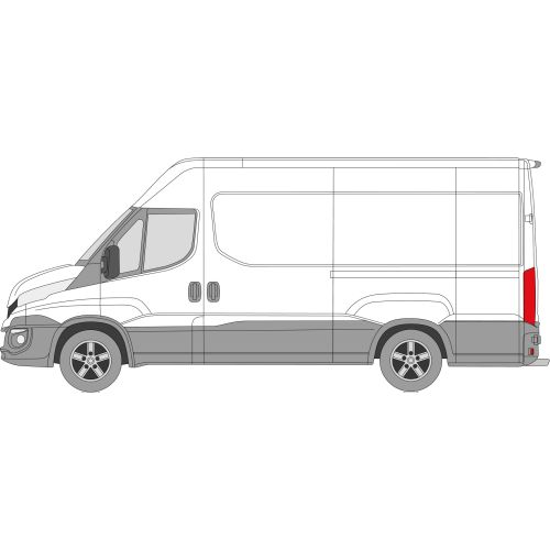 Iveco Daily 2014 > Left Privacy Front Fixed Glass