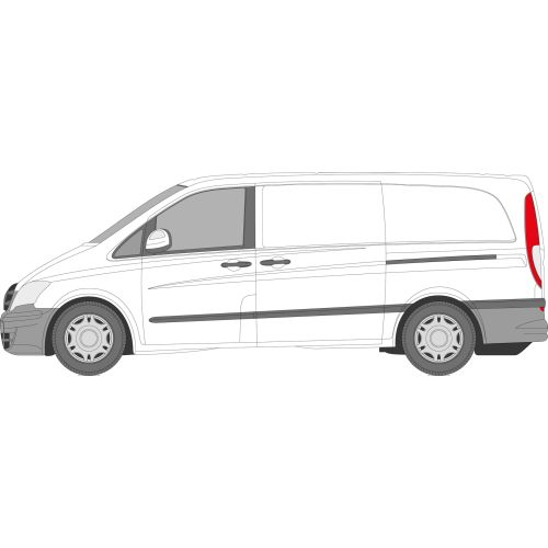 Mercedes Vito 2003 - 2015 Left Privacy Front Fixed Glass
