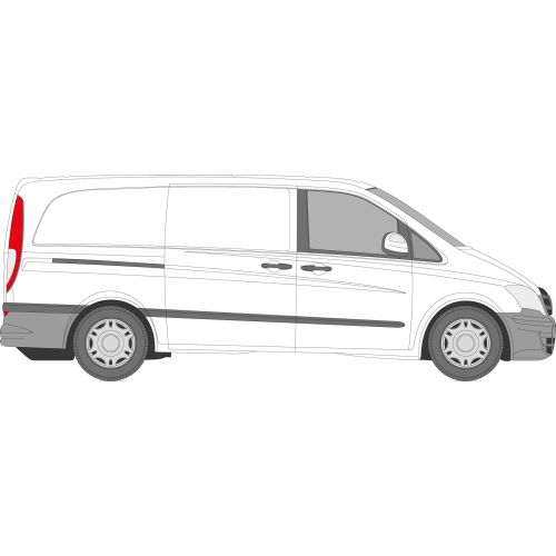 Mercedes Vito 2003 - 2015 Right Privacy Front Fixed Glass