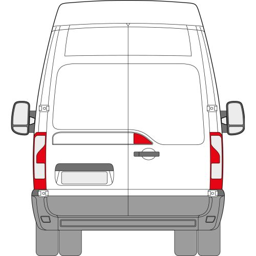 Renault Master 2009 > Left Privacy Back Door Glass