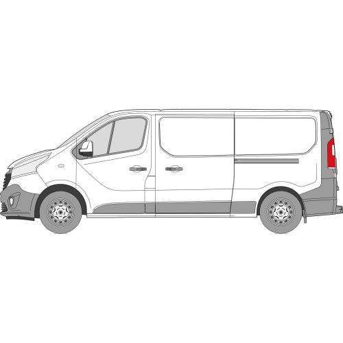 Fiat Talento 2014 > Left Privacy Rear Fixed LWB Glass