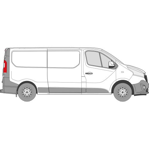 Fiat Talento 2014 > Right Privacy Rear Fixed LWB Glass