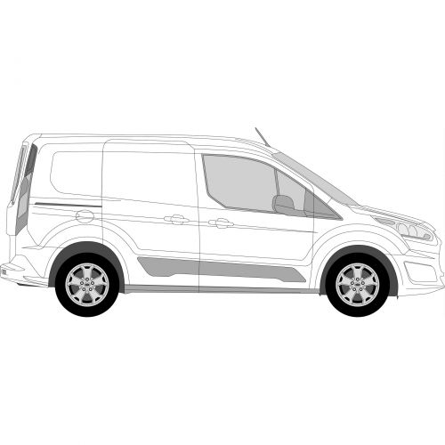 Ford Transit Connect 14 > Right Privacy Front Fixed SWB Glass