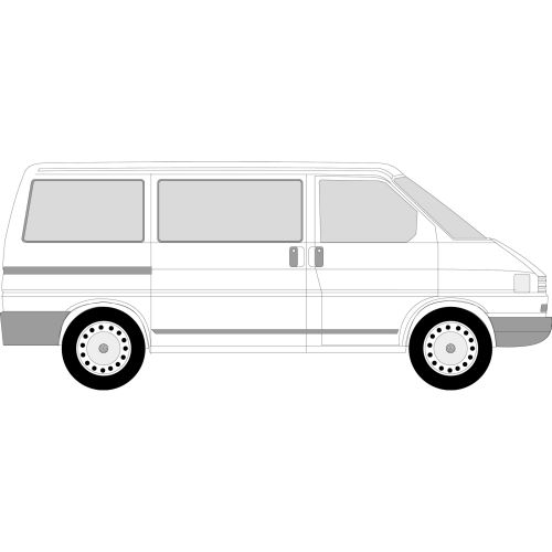 VW Transporter T4 1991 - 2003 (Glass Trim Required) Left/Right Privacy Front Fixed Glass