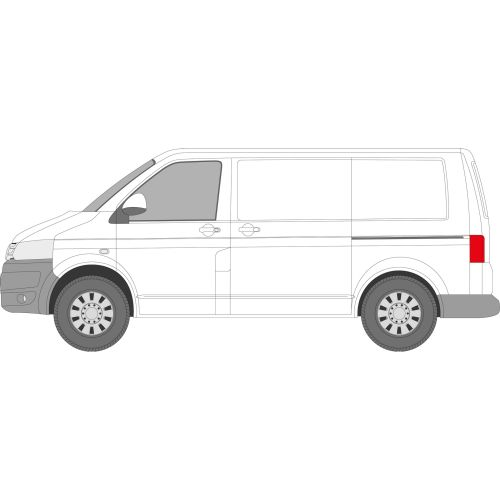 VW Transporter T5 2003 - 2016 Left Privacy Front Fixed Glass