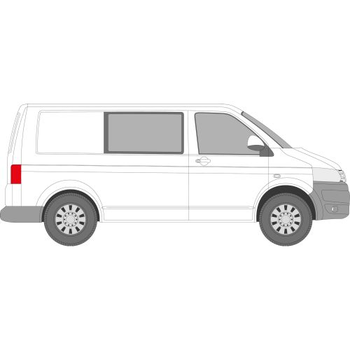 VW Transporter T5 2003 - 2016 Right Privacy Front Fixed Glass