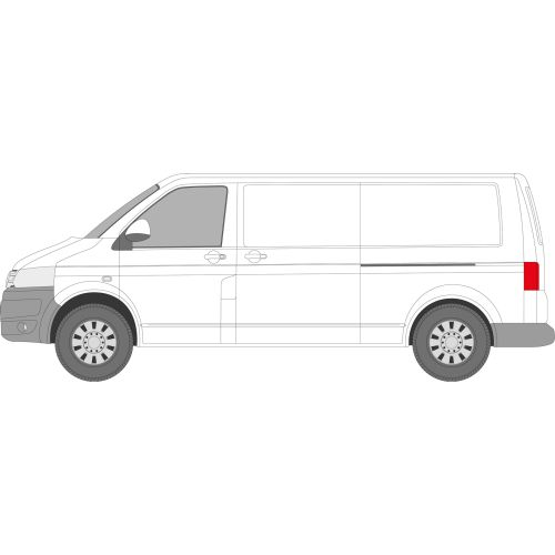 VW Transporter T5 2003 - 2016 Left Privacy Rear Fixed LWB Glass