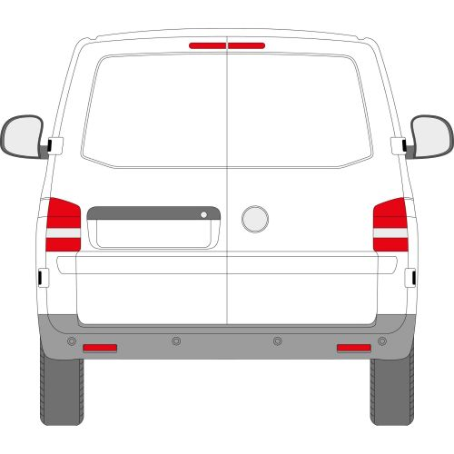 VW Transporter T5 2003 - 2016 Left Privacy Back Door Glass