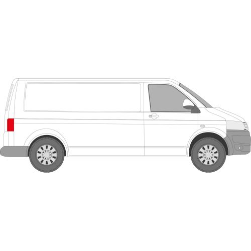 VW Transporter T5 2003 - 2016 Right Privacy Rear Fixed LWB Glass